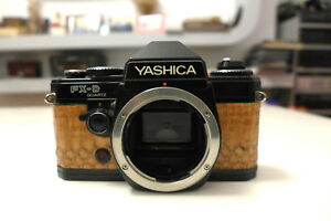 Custom Yashica FX-D Quartz 35mm SLR Film Camera Body snake skin
