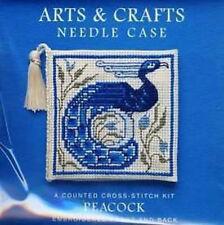 Textile Heritage Arts & Crafts Peacock Needle Case Cross Stitch Kit
