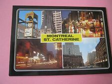 Montreal St Catherine Street 4 Views Postcard New