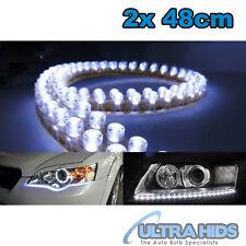 """2x 20 """"Bianco 48 LED Striscia Di Marcia Diurna Luce Drl Guida Nebbia Lampada Audi Style"""