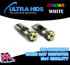 Vauxhall Vectra Zafira ICE White LED CANBUS 501 T10 Side Light Blubs 8 SMD