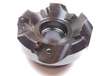 """Indexable Face Mill 3"""" x 1"""" Bore 5 Inserts 45° HMO00350K USA"""