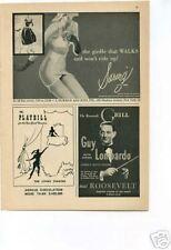 Guy Lombardo Jazz Roosevelt Grill 1950's Original Ad