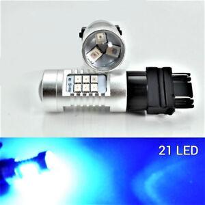 Rear Turn Signal 21 SMD LED Bulb Blue T25 3156 3456 B1 #1 For Honda Chevrolet