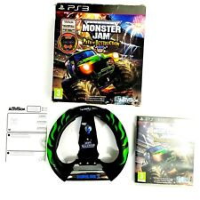 Monster Jam  Path of Destruction (Sony PS3 PlayStation 3, 2010) w/Wheel Game Set