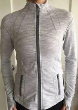 LULULEMON Size 6 Define Jacket Zip Up Wee Stripe Gray White NWT