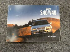 2001 Volvo S40 V40 Sedan Wagon Owner Owner's Manual User Guide A Sport Edition