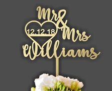 Wedding Cake Topper, Custom Cake Topper, Personalized Wedding Cake Toppers 💘🎂