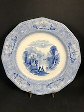 "Antique J Wedgwood Blue Transferware 9 3/8"" Plate Columbia 1848 Excellent (21-2)"