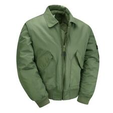 MA2 CWU Pilot Flight Jacket Mens Water Repellent Padded Style Bomber Green