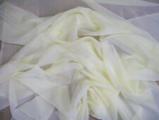 "WARM CREAM LUXURY120"" EXTRA WIDE SOFT FOLD SHEER VOILE £6.99 PER METRE FREE POST"