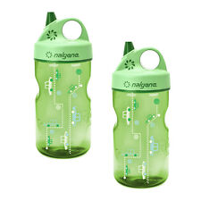 Nalgene Grip-n-Gulp Everyday Kids 12oz Water Bottle Spring Green Cars - 2 P