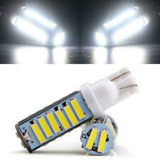 100Pcs White T10 W5W 194 168 921 20SMD 7014 LED 7020 LED Interior Lights 12V DC