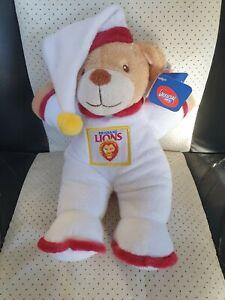 NEW - Brisbane Lions -  Official AFL My First Goodnight Teddy Bear