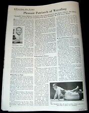 BIG TIME WRESTLING 1935 ED THE STRANGLER LEWIS FEATURE 1st to FLY TO MATCHES