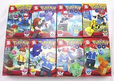 8 Pcs-Mini Pokemon Go Building Blocks Model Brick Toy Set (Charmander,Pikachu)