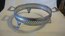 "Vintage Silverplated Casserole Dish Holder, 8.625"" diameter"