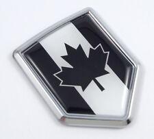 Canada Black Flag Chrome Car Emblem auto badge Decal Bumper 3D Sticker