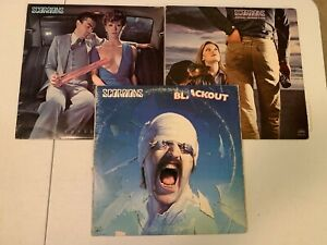 SCORPIONS VINYL RECORD LOT OF 3! BLACKOUT,ANIMAL MAGNETISM,LOVEDRIVE!