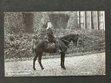 Vintage Postcard: Royalty: #A115 : Young Prince Edward Of Wales On Horse