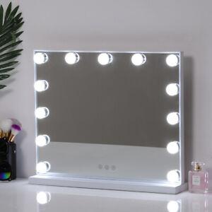 Hollywood Make Up Mirror W/ LED Bulbs 3 Colour Lights Dressing Table Illuminated