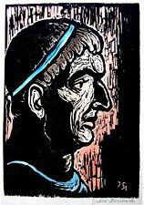 STEINHARDT Bezalel HAND SIGNED Color ART WOODCUT Jewish BIBLE Woodblock JUDAICA