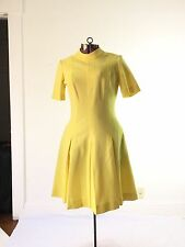 TRUE VINTAGE 1960s 60s yellow dress mod scooter polyester costume or wear
