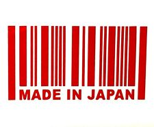 MADE IN JAPAN DECAL STICKER 14 COLORS JDM HONDA MAZDA TOYOTA CAR TRUCK SUV EURO