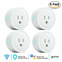 4Pack Wifi Smart Plug Remote Control Outlet Socket Switch for Alexa Google Home