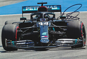 Lewis Hamilton - Autographed - Signed 8X12 Inches Mercedes F1 Photo