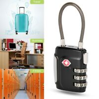 TSA Security Lock 3/4-Digit Code Combination Padlock Travel Suitcase Luggage Bag