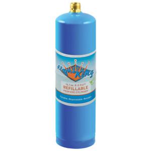 Flame King 1lb Refillable LP Cylinder, 14.1oz., Blue