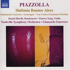 Astor Piazzolla  Sinfonía Buenos Aires • Bandoneón Concerto, 'Aconcagua'  CD NM