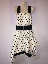 Abito/Vestito/Dress Pois Friends Donna/Women Con Cintura 100% Cottone Tg.42-44