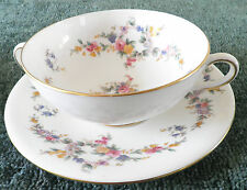 MINTON - SPRING FLOWERS - SOUP BOWL AND SAUCER