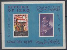 Iraq iraq 1965 ** bl.6 giorno dell'Esercito Army Day SOLDATO SOLDIER BANDIERA FLAG