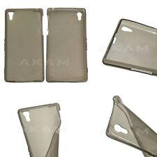 Ultra Thin Slim TPU Soft Silicon Smoke Black Gel Case Cover For Sony Xperia Z2