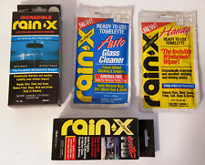 RAIN X ORIGINAL & ANTI-FOG & 2 TOWELETS WINDOW TREATMENT HOME AUTO 7 oz & 3.5 oz