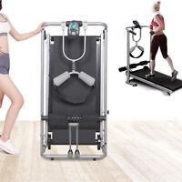 Foldable Manual Treadmill Walking Jogging Running Machine Fittness Traning