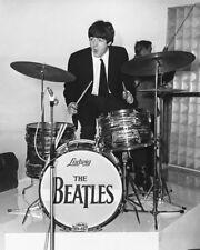 Paul Mccartney On Drums Rare The Beatles 16x20 Canvas Giclee
