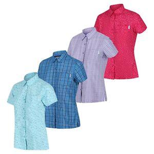 Regatta Womens Button Long Short Sleeve Plain Check Shirt Huge Sale 80% Off RRP