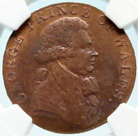 1794 GREAT BRITAIN England GEORGE IV Conder Token ESSEX Warley NGC Coin i83993