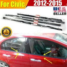 4pcs Car Weatherstrip Window Moulding Trim Seal Belt For Honda Civic 2012-2015