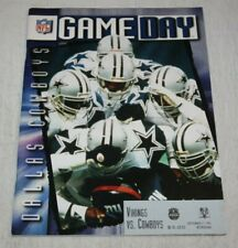 Minnesota Vikings vs Dallas Cowboys Program Magazine September 17 1995