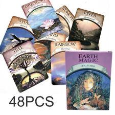 48Pcs Magic Oracle Cards Earth Magic Read Fate Tarot Deck Fortune Game Telling