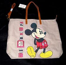 Walt Disney World Authentic✿Mickey Mouse Tote Zip Top Classic Pose 2 Handle +Str