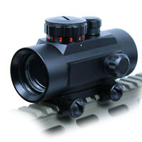 Hunting 1X30 Green / Red Dot Sight 5 MOA Reticle Rifle Scope w/ 20mm Rail Lasers