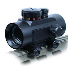 New Style Gun Red Green Dot Tactical 1x30 Sight Scope w/10mm-20mm Weaver Mounts