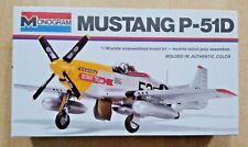 69-5101 MONOGRAM 1/48th Scale NORTH AMERICAN P-51D MUSTANG Plastic Model Kit
