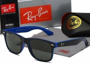 Ray-Ban Wayfarer Folding Classic RB4105 Occhiali da Sole - montatura blue e nero